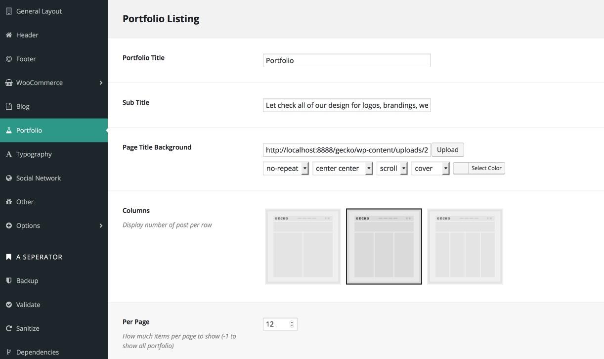 portfolio-setting