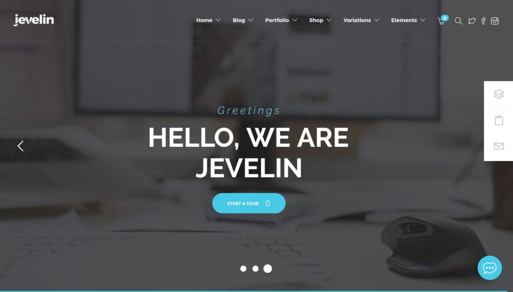 Jevelin is among top most popular multipurpose wordpress themes.