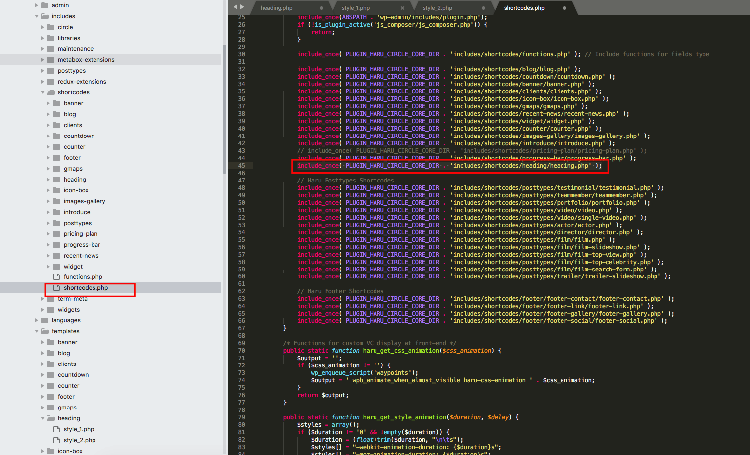 How to add new WP Bakery Shortcode in HaruTheme - HaruTheme